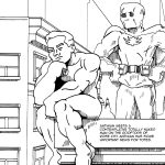 The Antiman meets up with Totally Naked Man.