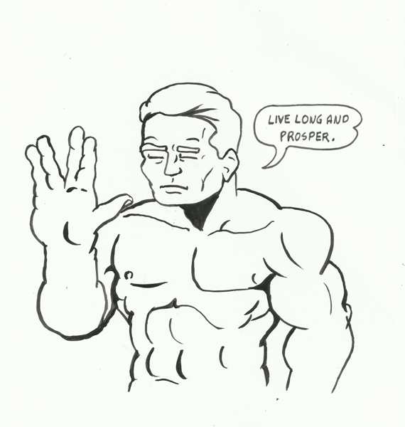 Leonard Nimoy Tribute featuring Totally Naked Man