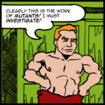 Panel 8 image featuring Totally Naked Man in a towel